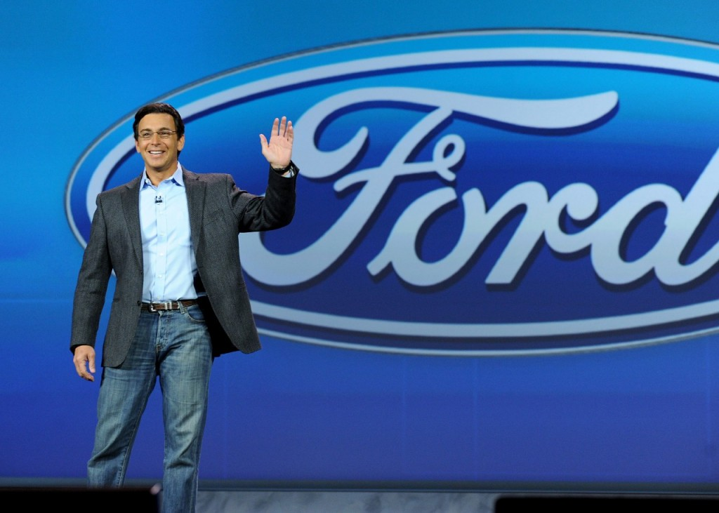 Mark Fields, President and CEO of Ford Motor Company delivering the Ford keynote at CES