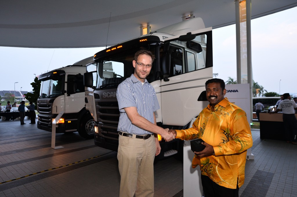 2) Tom Kuiphis, Pre Sales Director of Scania Southeast Asia presented   the...
