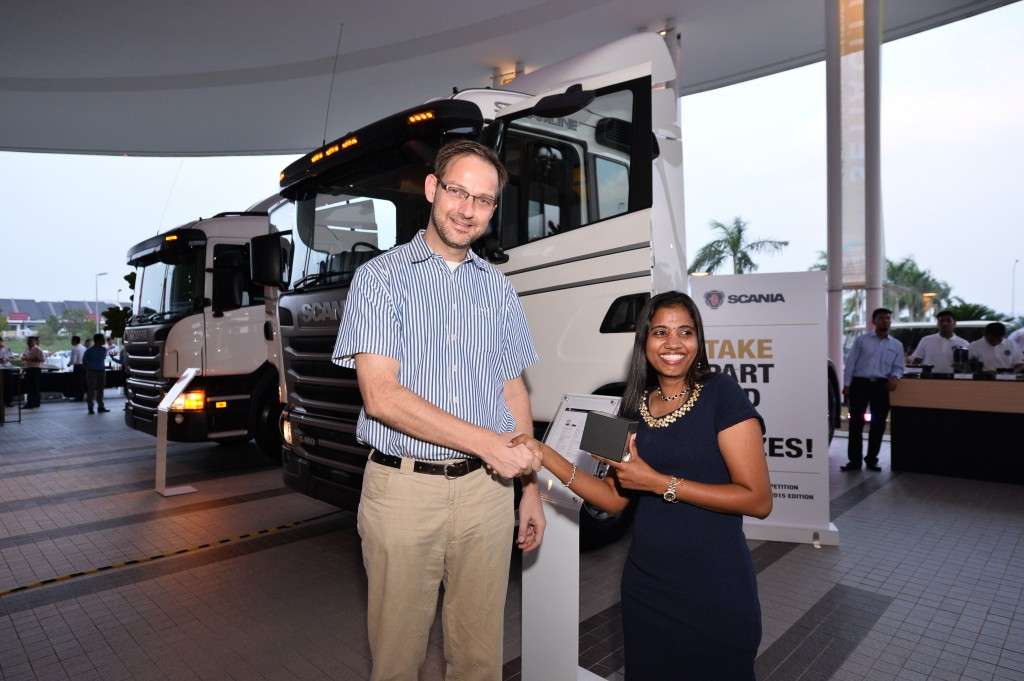 4) Tom Kuiphis, Pre Sales Director of Scania Southeast Asia presented the t...