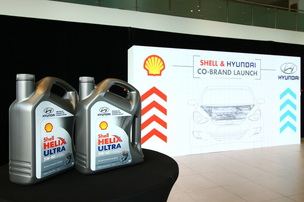 Shell and Hyundai recently launched a co-branded oil that was specially developed for Hyundai cars