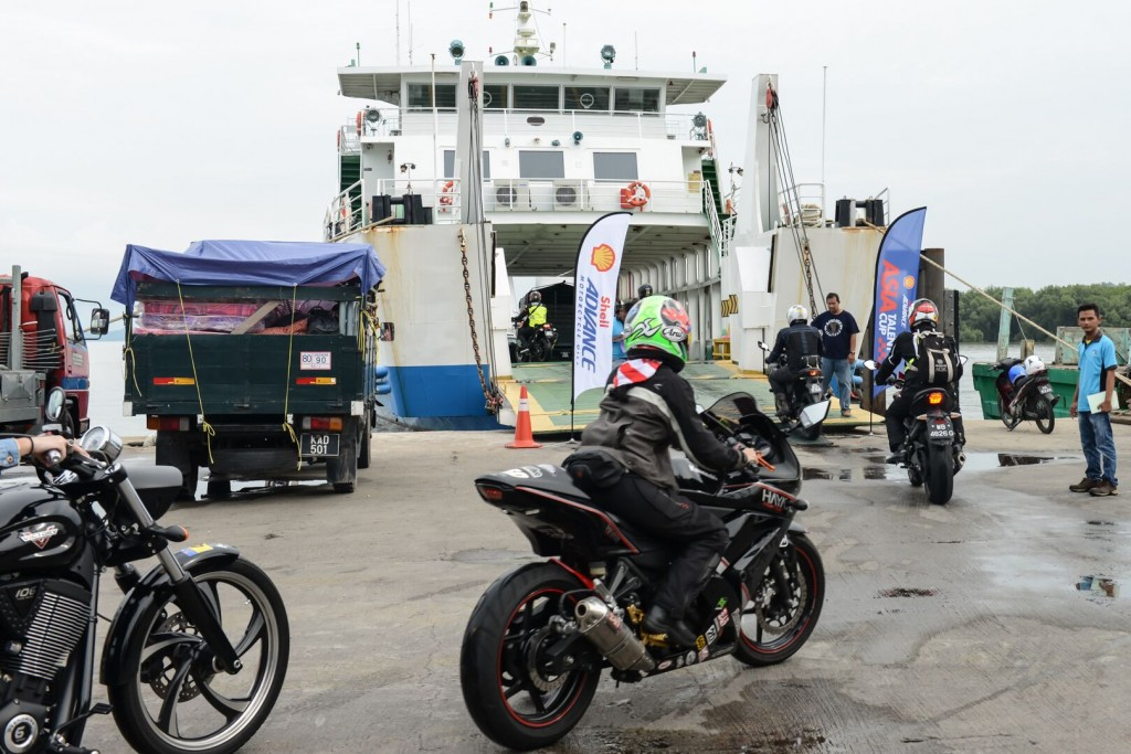 #Advance2Langkawi riders boarding ferry to Langkawi