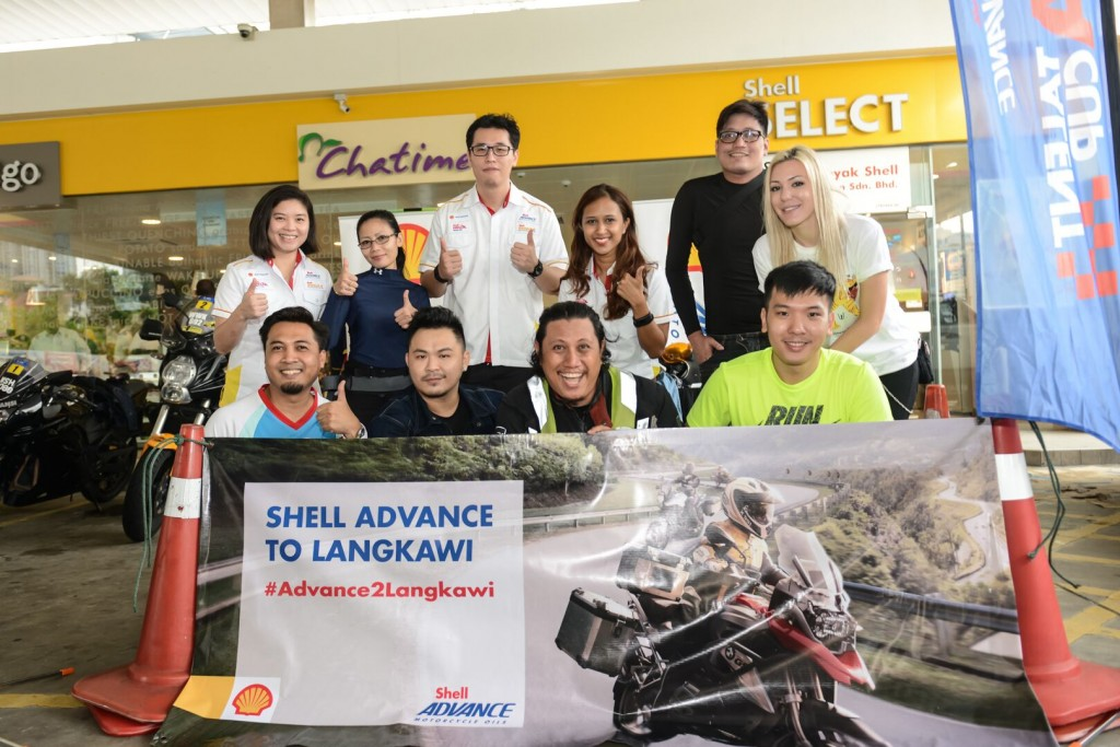 #Advance2Langkawi winners and the team from Shell Lubricants Malaysia posing before the flagoff