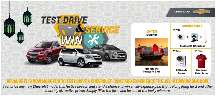 Chevrolet Test Drive and Win