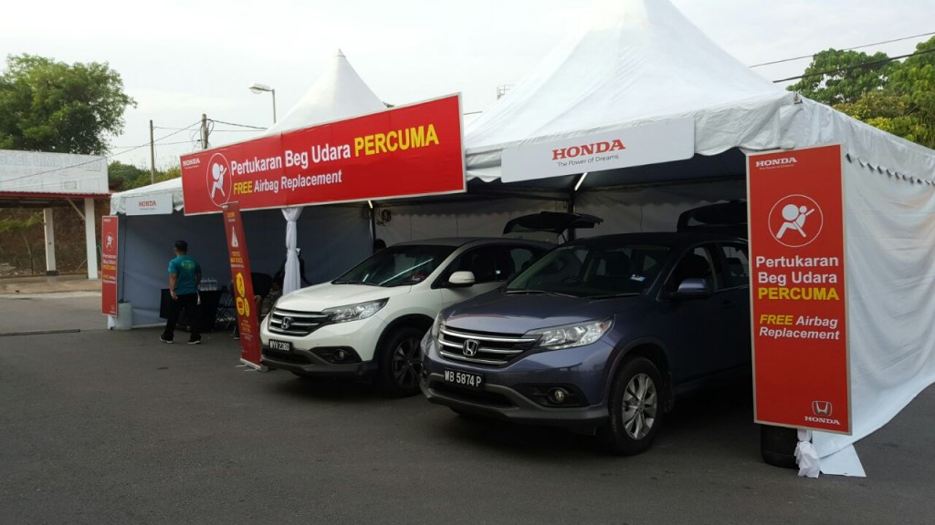 01 Honda Malaysia Mobile Hub for Takata front airbag replacement activities