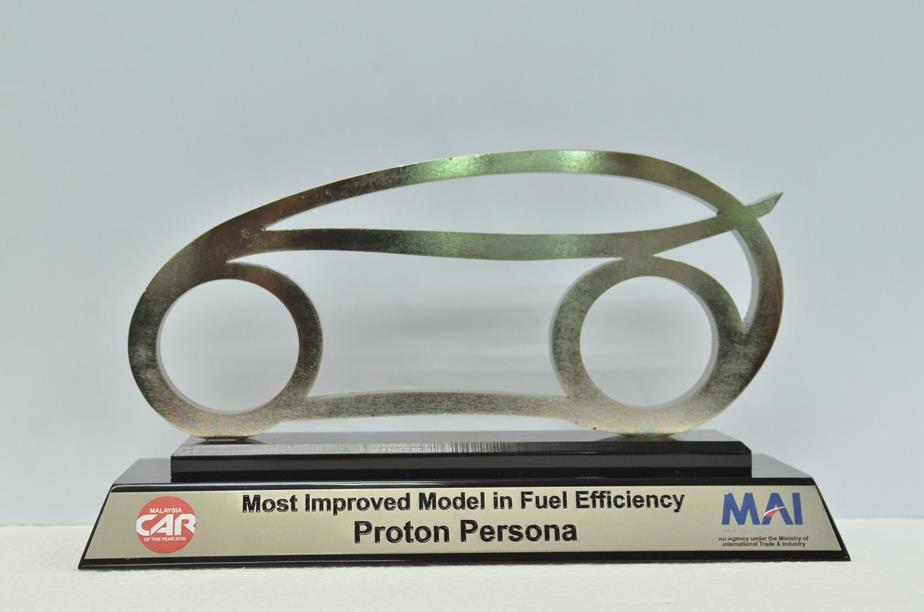 Most Improved Model in Fuel Efficiency - Proton Persona