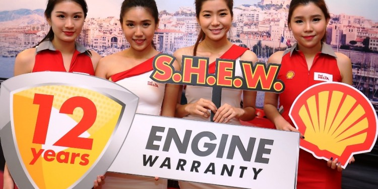 Shell Helix Brand Ambassadors at the launch of Shell Helix Engine Warran...