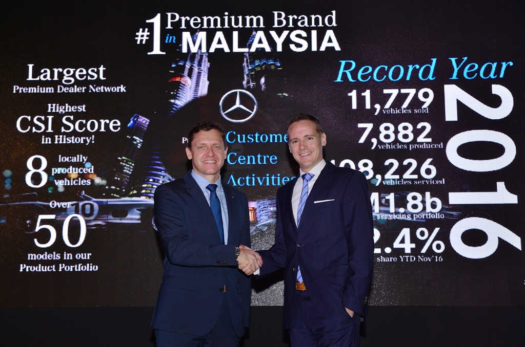 Photo 2- (from left) Mercedes-Benz Malaysia President and CEO, Dr Claus Weidner and Vice President, Sales and Marketing Mercedes-Benz Cars, Mr Mark Raine.
