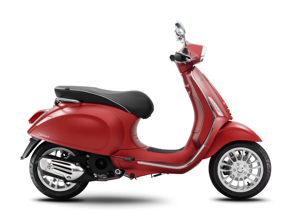 Vespa - Why Drive Lets Ride - Sprint - Red Matt  - ABS - 4