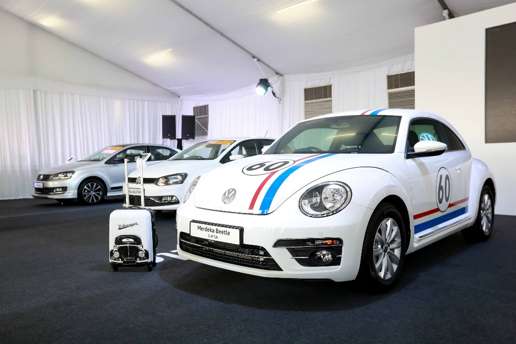 The limited edition 60th Merdeka Edition Beetle.
