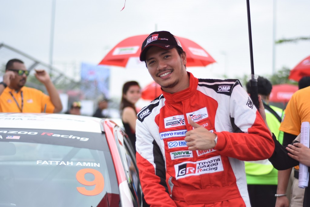 Fattah Amin poses with his Vios