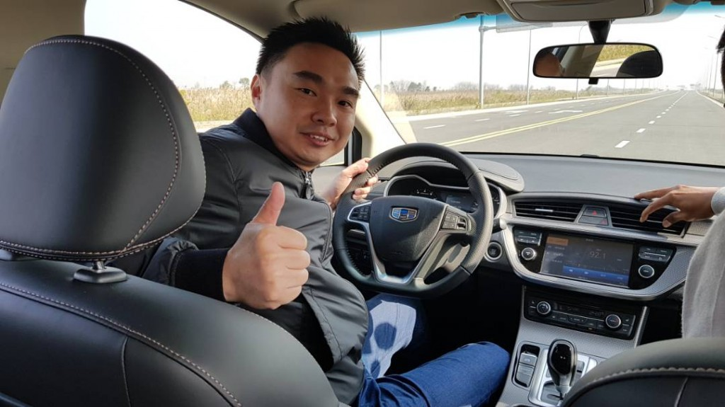 Ryan Lai test drive Geely model