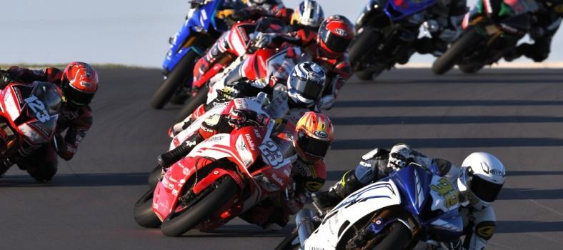 Aksi Ramdan dalam saingan SuperSports 600cc