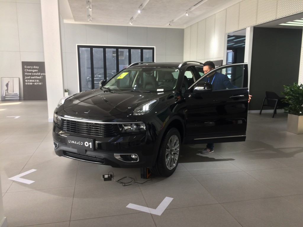 one of the dealer checking out the Lynk_Co car